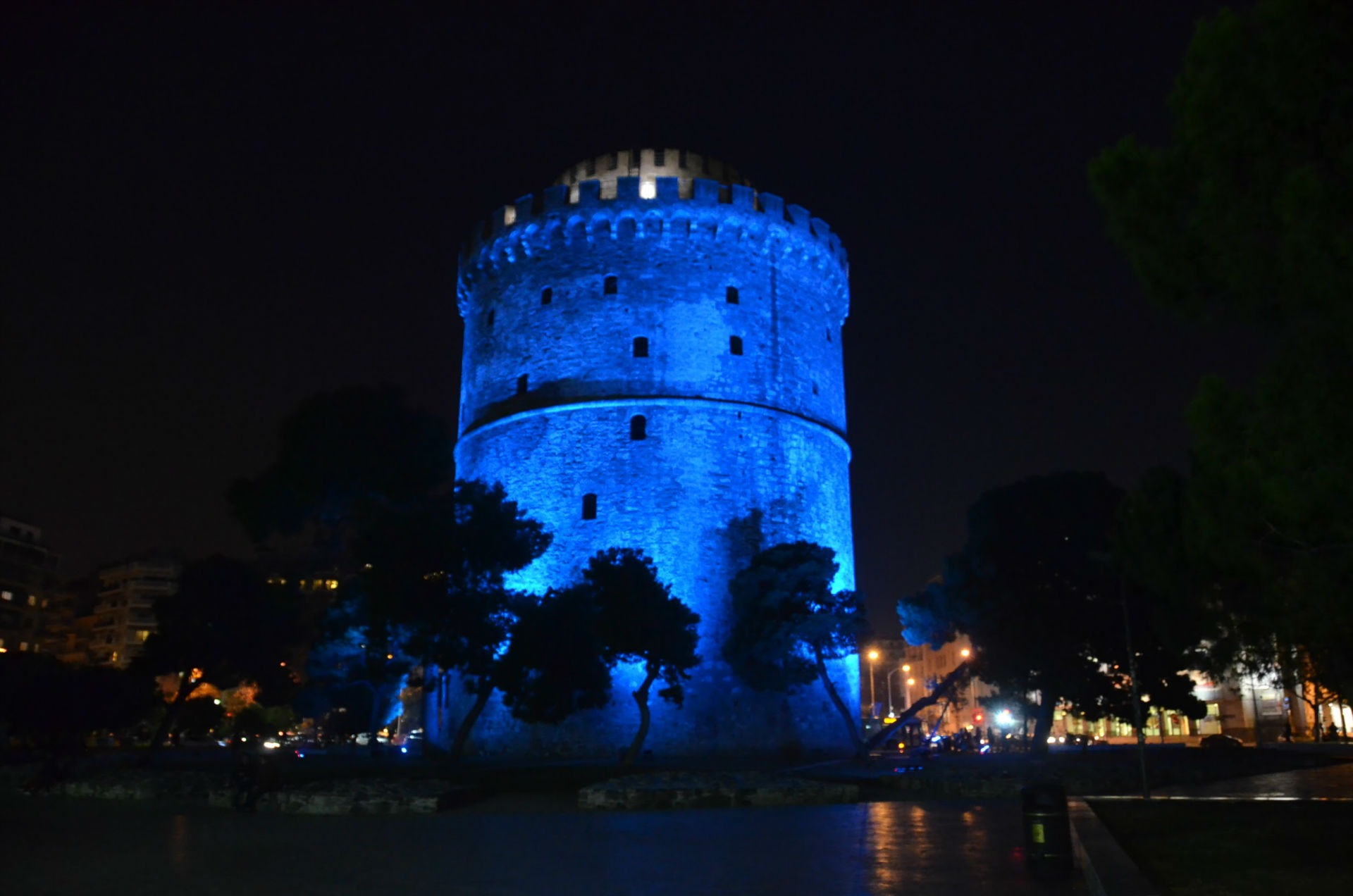 Blue White Tower